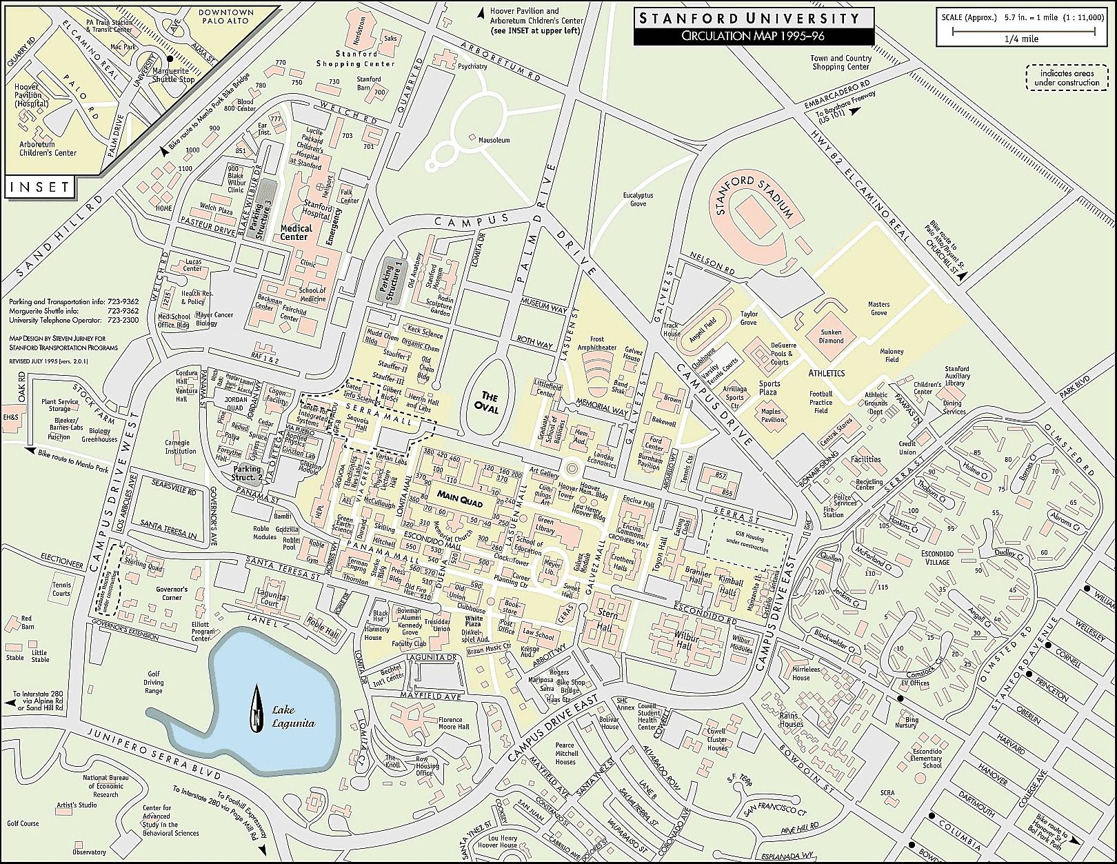 stanford university campus map